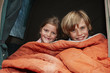Children in a tent portrait