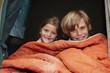 Children in a tent portrait
