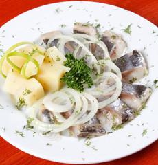 Marinated herring fillets