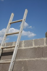 Ladder Leaning on Wall