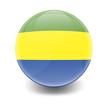 Постер, плакат: Esfera brillante con bandera Gabon