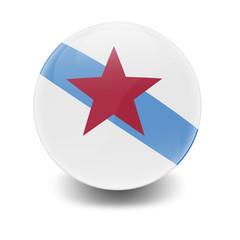 Esfera brillante con bandera Galicia independiente