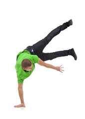 dancer showing his skills