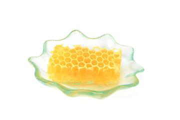 Closeup of honeycomb slice