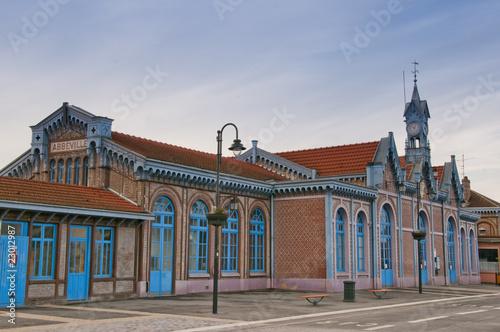 Papiers peints Gares La gare d'Abbeville