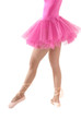 Unrecognizable female dancer body with tutu isolated on white