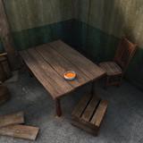 3d dinner for the poor render poster
