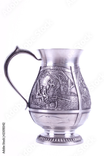 metallic pitcher with engraving image