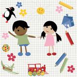 Childlike design poster