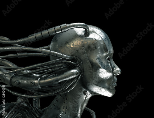 Futuristic connected robotic head