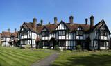 almshouses terraced cottages tring hertfordshire poster