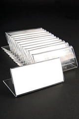 Plastic holders for price tags