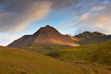 Landscape view in the east of Iceland