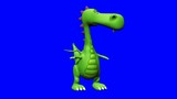 lost baby green dragon chroma key