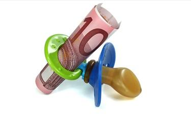10 Euro in Schnuller