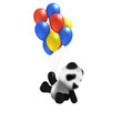 3d Teddy flying with his balloons