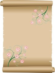 Pergamena Decorata-Decorated Parchment Background-Vector