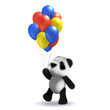 3d Teddy has some balloons