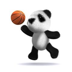 3d Teddy plays basketball