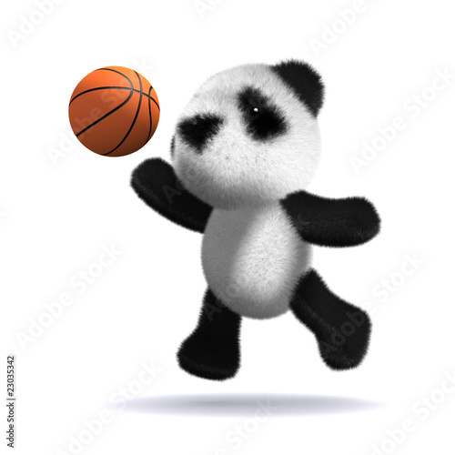 3d Teddy plays basketball