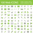 One hundred different highly detailed vector Icons