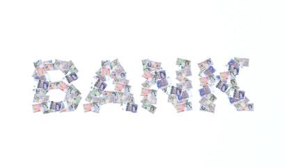scritta bank sterline