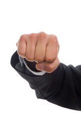 business man hand fight