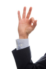 business man hand whith ok signal