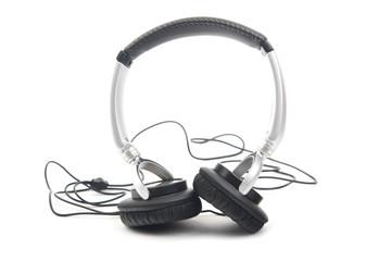 Silver-black headphone