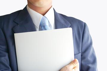 ファイルを持つビジネスマン