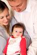 Familie mit einem Baby