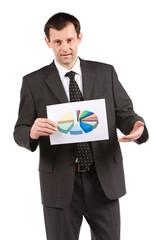 Homme d'affaires et prévisions