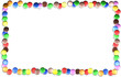 Cornice Caramelle Confetti -Colored Sweets Candies Frame