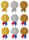Award Medals Ribbons / Vector