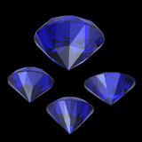 Round  blue sapphire poster