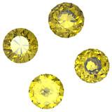 Round yellow sapphire poster
