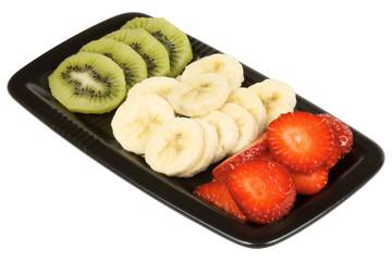 Fresh fruit italian flag