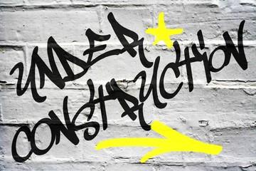 Graffiti Background - Under Construction