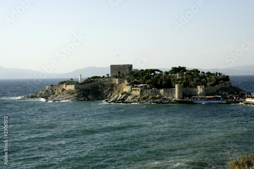 an image of Kusadasi and the sea