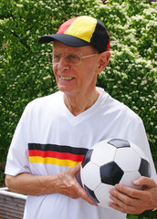 Senior Fußball-Fan - Senior Soccer-Fan