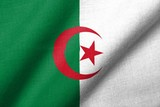 3D Flag of Algeria waving