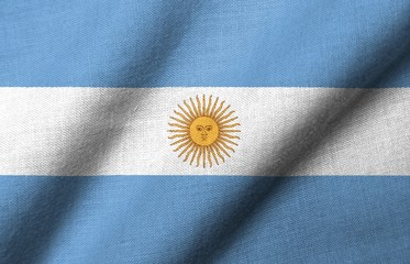 3D Flag of Argentina waving