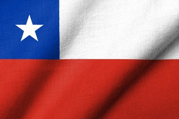 3D Flag of Chile waving