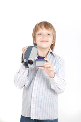 Boy with video camera