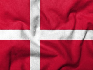 3D Flag of Denmark