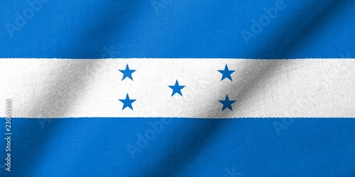 3D Flag of Honduras waving