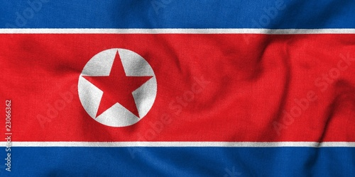 3D Flag of North Korea