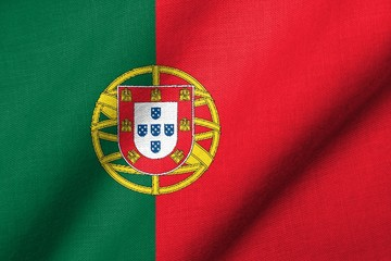 3D Flag of Portugal waving