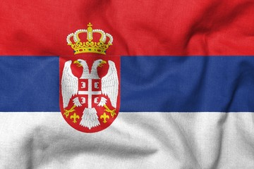 3D Flag of Serbia