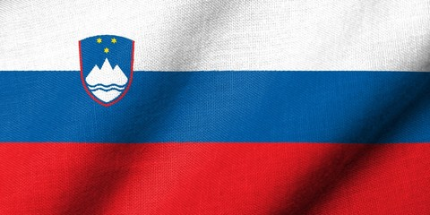 3D Flag of Slovenia waving